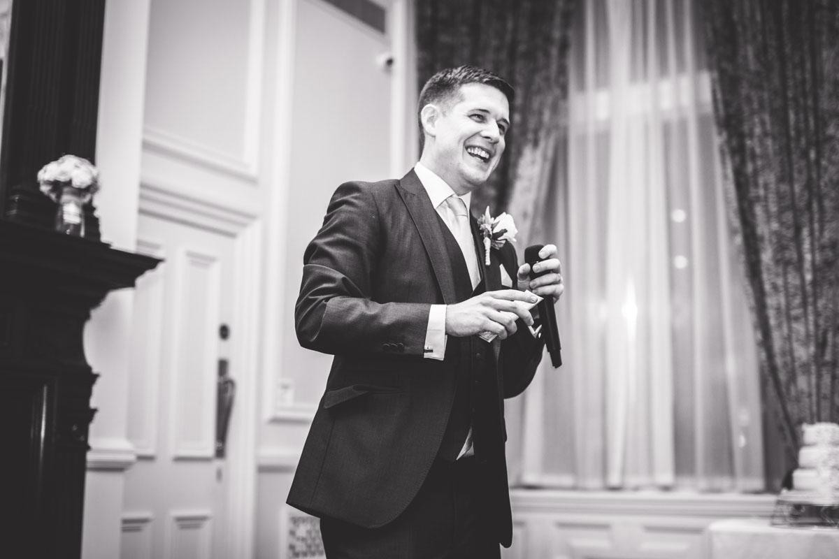 groom giving a speech