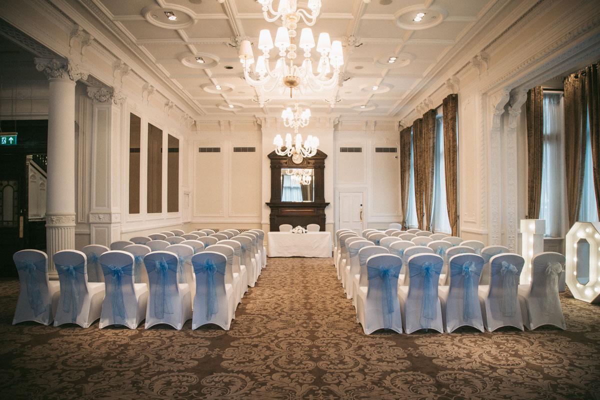 ceremony room at the doublretree hilton liverpool