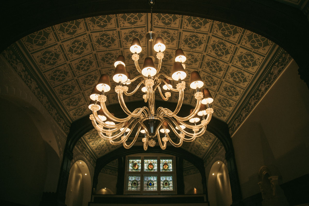 chandelier in the presidential suite at the doubletree hilton liverpool