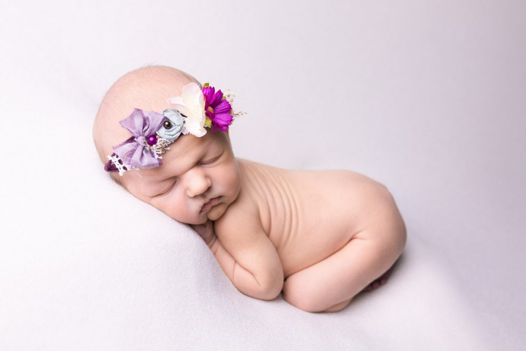 newborn baby girl taken in liveprool photographers studio on seaforth road