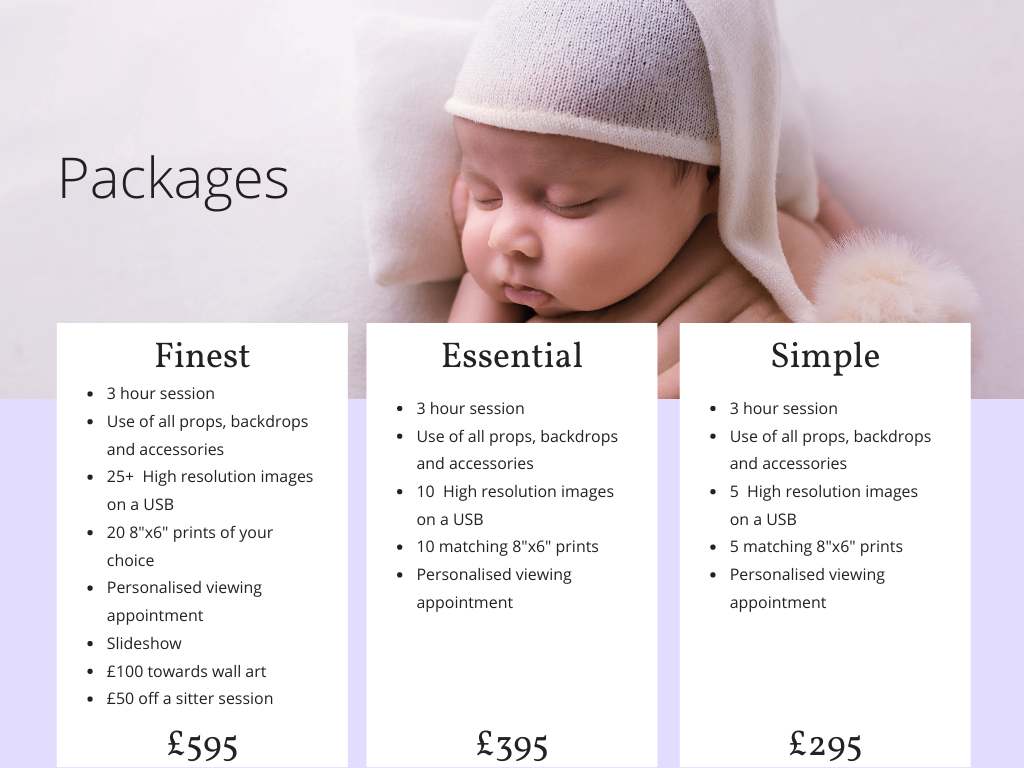 Newborn 2020 packages